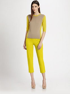Piazza Sempione - Colorblock Knit Top