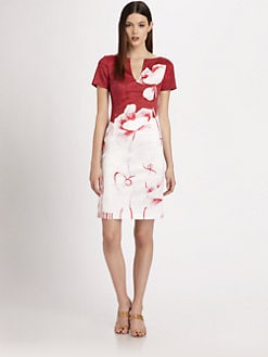 Piazza Sempione - Poppy Print Poplin Dress