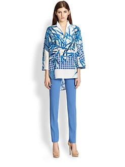 Piazza Sempione - Silk Bamboo Print Tunic
