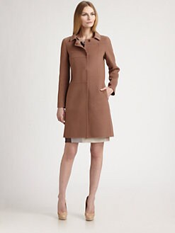 Piazza Sempione - Wool/Cashmere Seamed Coat