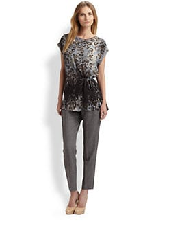 Piazza Sempione - Silk Animal Print Tunic