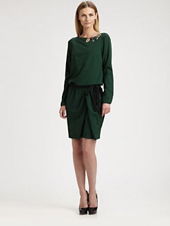 Piazza Sempione - Jeweled Wool Dress
