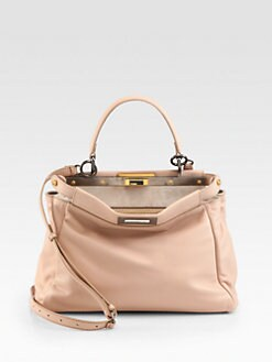 Fendi - Peekaboo Leather Satchel
