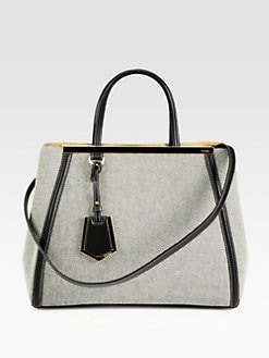 Fendi - Small Canvas 2Jour Bag