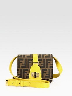 Fendi - Small Tevere Jacquard Shoulder Bag