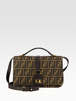Fendi - Large Tevere Jacquard Shoulder Bag