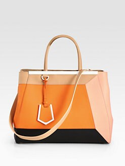 Fendi - 2Jour Medium Colorblock Satchel