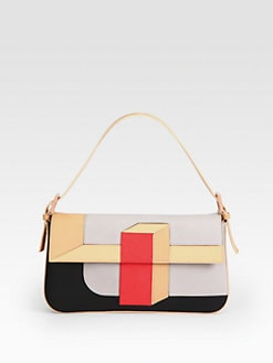 Fendi - Colorblock Baguette Shoulder Bag