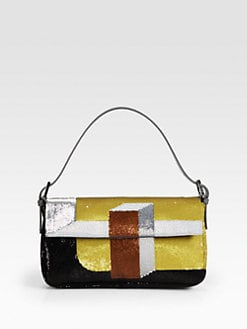 Fendi - Sequined Baguette Shoulder Bag