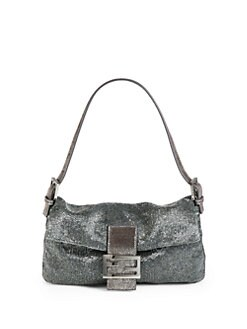 Fendi - Zucca Lurex Baguette Shoulder Bag