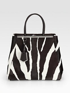 Fendi - 2Jours Large Zebra-Printed Calf Hair Shopper