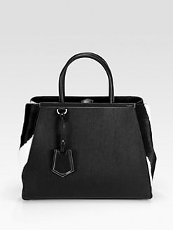 Fendi - 2Jours Medium Leather & Calf Hair Bag