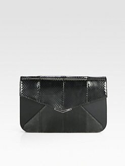 Fendi - 2Jours Python & Leather Clutch