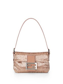Fendi - Sequined Mini Bagette Shoulder Bag