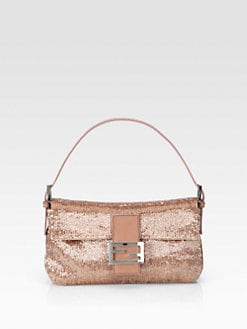Fendi - Sequined Bagette Shoulder Bag