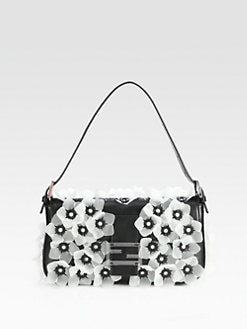Fendi - Embellished Baguette Shoulder Bag