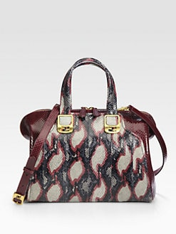 Fendi - Ayers & Python Top Handle Bag