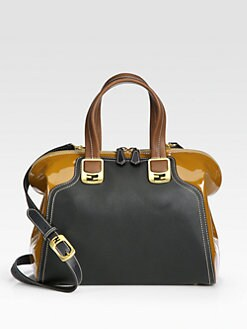 Fendi - Chameleon Patent Leather & Leather Duffle Bag