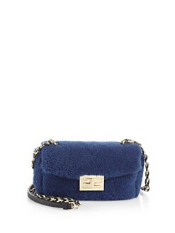 Fendi - Mini Shearling Be Baguette Shoulder Bag