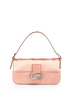 Fendi - Raso Medium Satin Baguette Shoulder Bag