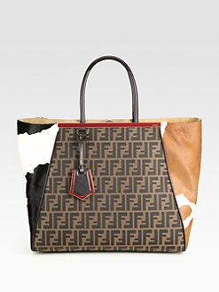 Fendi - 2Jours Zucca Jacquard & Hair Calf Shopper