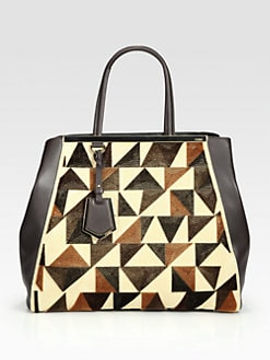 Fendi - 2Jours Large Mixed-Media Tote