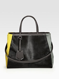 Fendi - 2Jours Colorblock Haircalf Bag