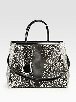 Fendi - 2Jours Printed Haircalf Bag