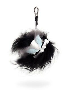 Fendi - Fur & Leather Cat Keychain