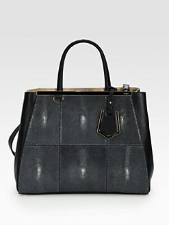 Fendi - 2Jours Stingray & Leather Shopping Tote