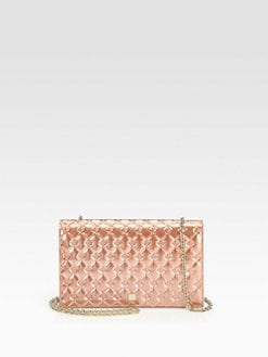 Fendi - Fendilicious Metallic Patent Leather Clutch