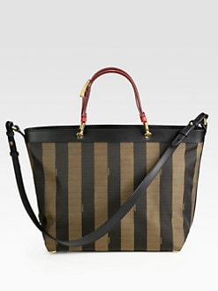 Fendi - Pequin Large Shoulder Tote