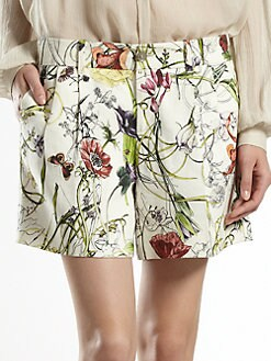 Gucci - Flora Infinity Linen Shorts