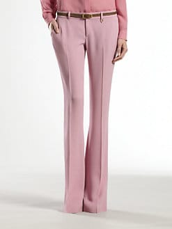 Gucci - Satin Bubblegum Skinny Flare Pants
