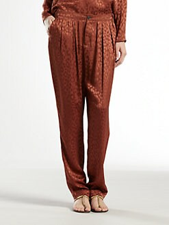 Gucci - Leopard Jacquard Gathered Pants