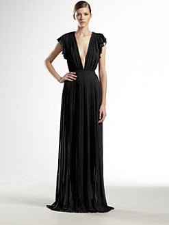 Gucci - Silk Georgette Pleated Gown