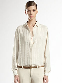 Gucci - Silk Chain Jacquard Shirt