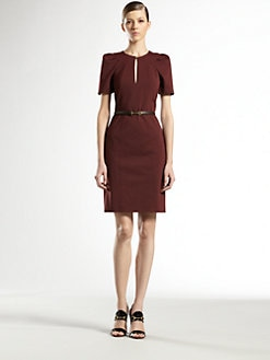 Gucci - Cotton Tuck Shoulder Dress