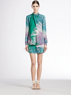 Gucci - Dahlia Print Double Front Shirt