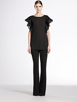 Gucci - Flutter Sleeve Top