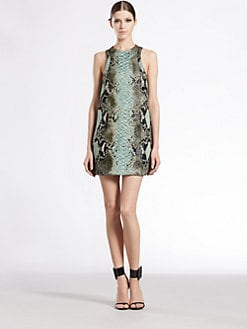 Gucci - Python Jacquard Cloqu&eacute; Tunic Dress
