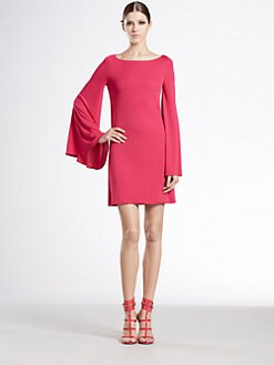 Gucci - Long-Sleeve Boatneck Dress