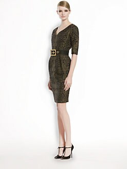 Gucci - Jacquard Lace Sweetheart Dress
