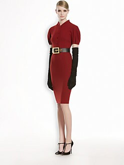 Gucci - Puff-Sleeve Stretch Wool Dress