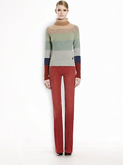 Gucci - Cashmere & Lambswool Striped Turtleneck