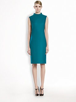 Gucci - Stretch Flannel Mock Neck Dress