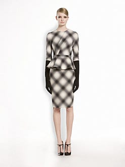 Gucci - Check Flannel Flounce Dress