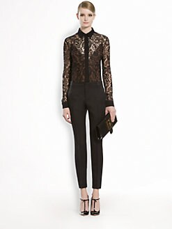 Gucci - Lace Flower Blouse