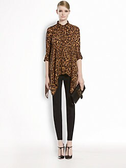 Gucci - Jaguar Silk Georgette Cape Shirt