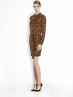 Gucci - Jaguar Silk Georgette Chemsier Dress